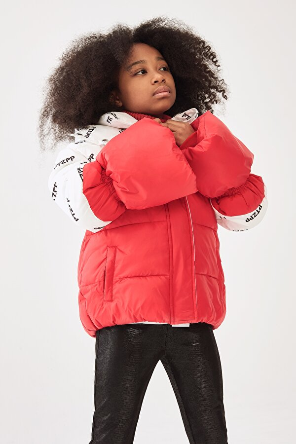 Resim Kız Çocuk Kırmızı Mont