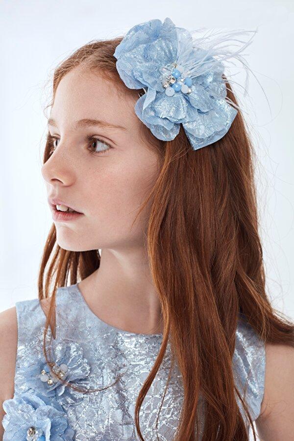 Resim Kız Çocuk Mavi Toka