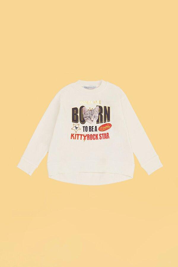 Resim Kız Bebek Ekru S-Shirt