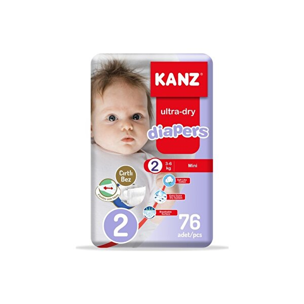 Resim KANZ - 2 NO 76 ADET 3-6KG MEGA PACK