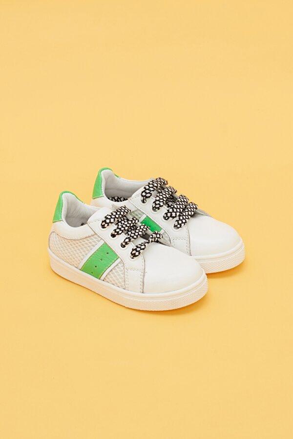 Resim Erkek Bebek Beyaz Ayakkabı