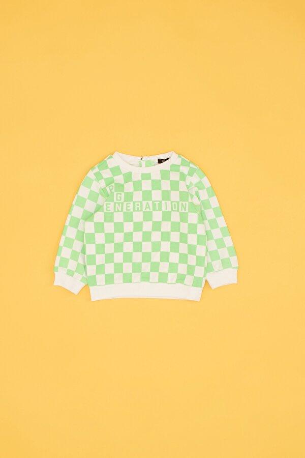 Resim Erkek Bebek Desenli Sweatshirt