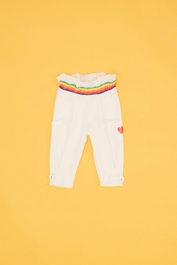 Resim Kız Bebek Beyaz Eşofman Altı
