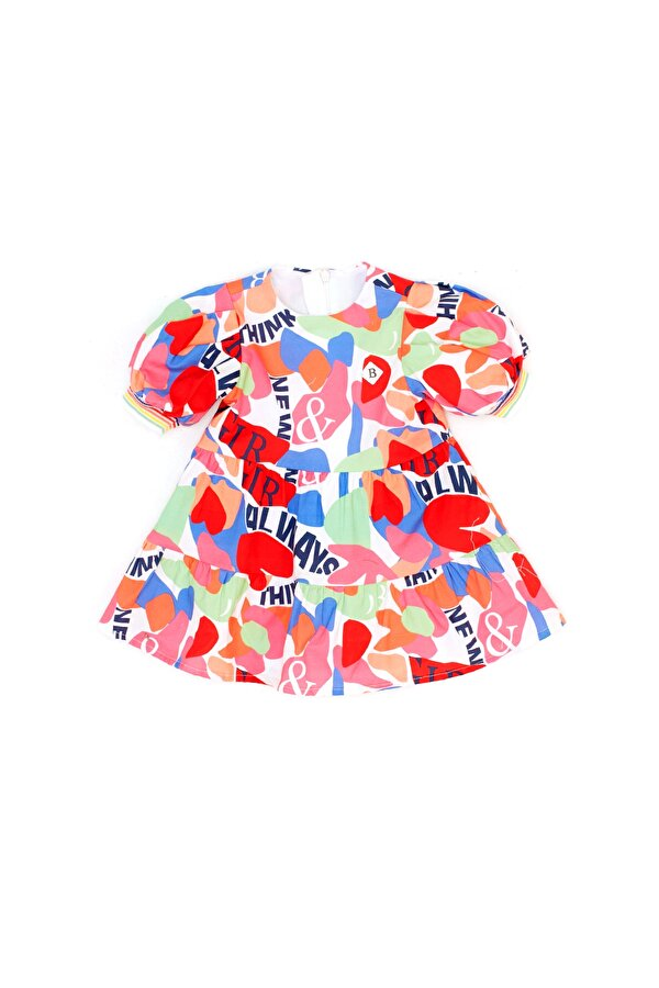 Resim Kız Bebek Desenli Elbise