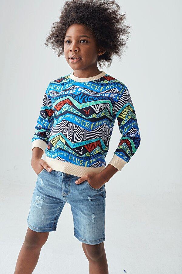 Resim Erkek Çocuk Desenli Sweatshirt