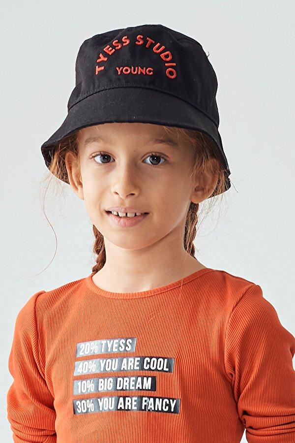 Resim Kız Çocuk Siyah Şapka