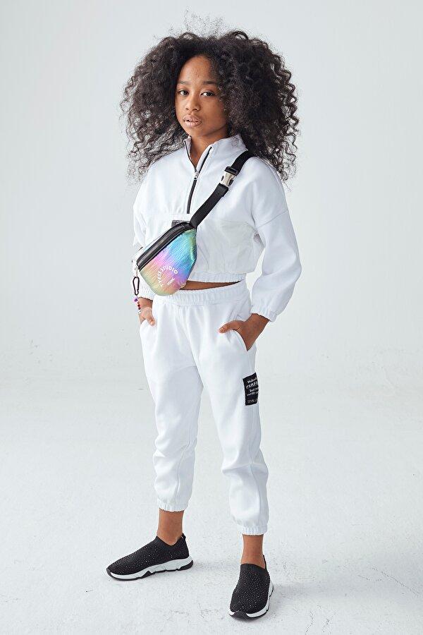 Resim Kız Çocuk Beyaz Eşofman Altı