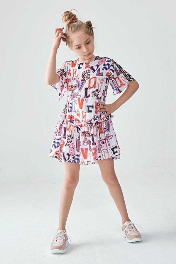 Resim Kız Çocuk Desenli Elbise