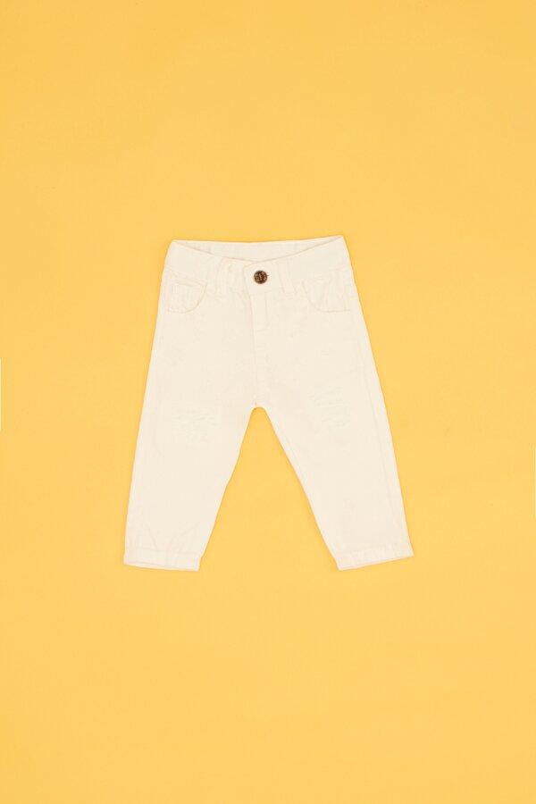 Resim Erkek Bebek Ekru Pantolon