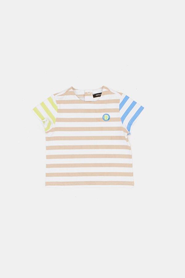Resim Erkek Bebek Çizgili T-Shirt