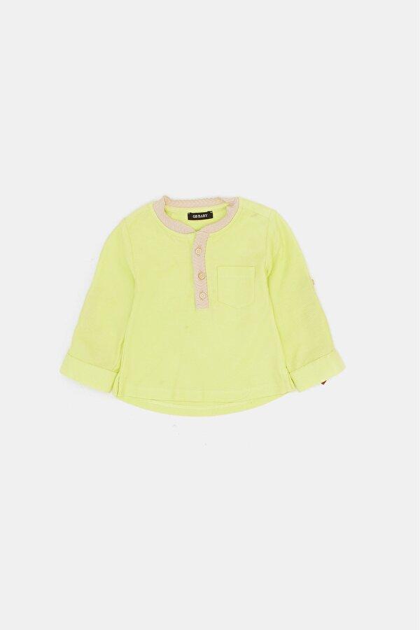 Resim Erkek Bebek Neon Yeşil T-Shirt