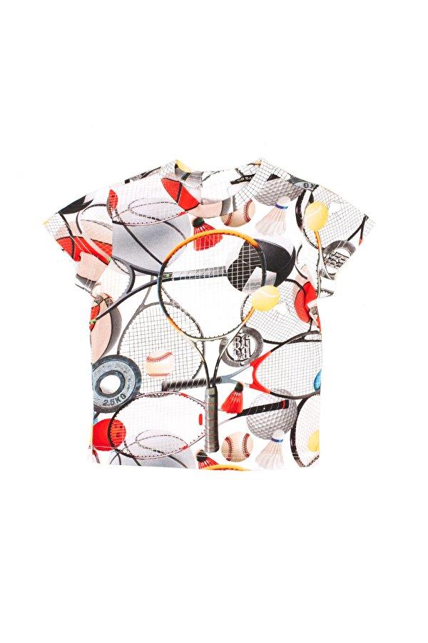 Resim Erkek Bebek Desenli T-Shirt