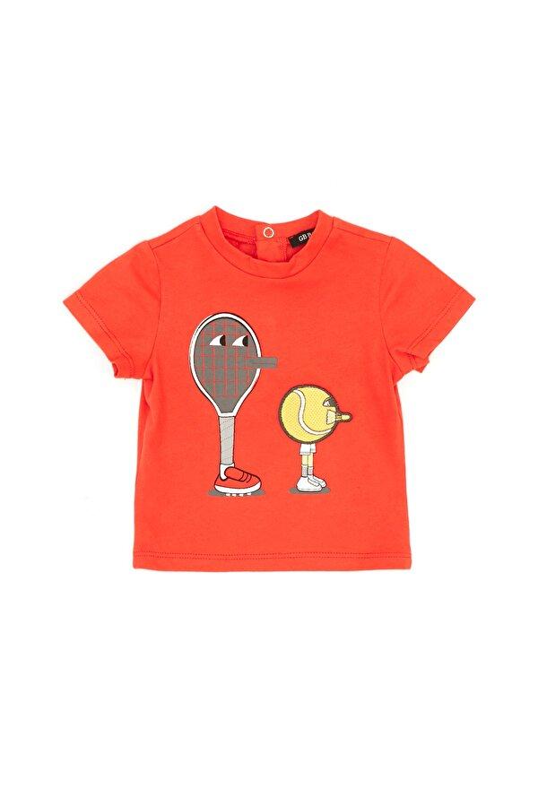 Resim Erkek Bebek Nar Çiçeği T-Shirt