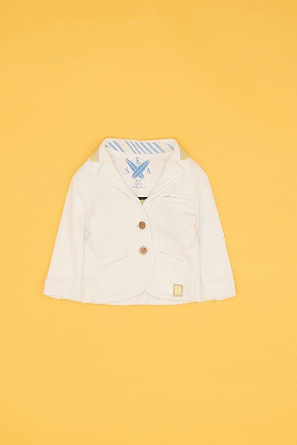 Resim Erkek Bebek Beyaz Ceket