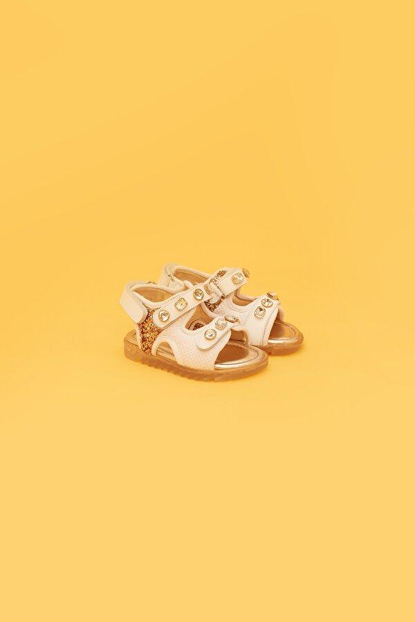 Resim Kız Bebek Beyaz Sandalet