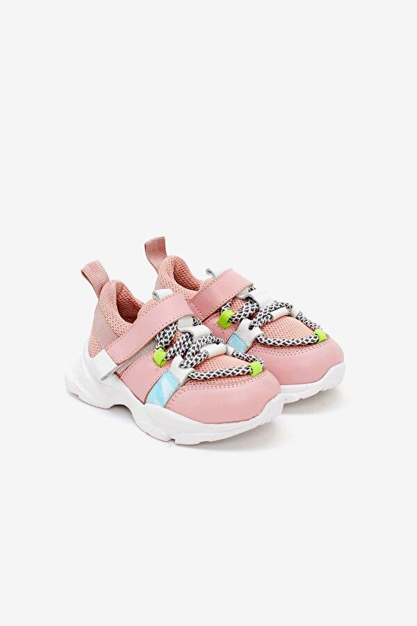 Resim Kız Bebek Pembe Sneaker