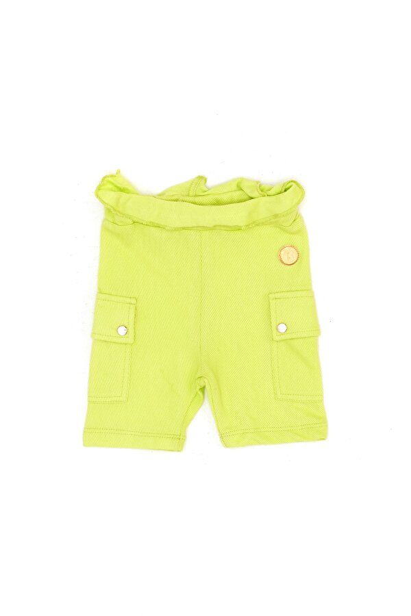 Resim Kız Bebek Neon Yeşil Şort