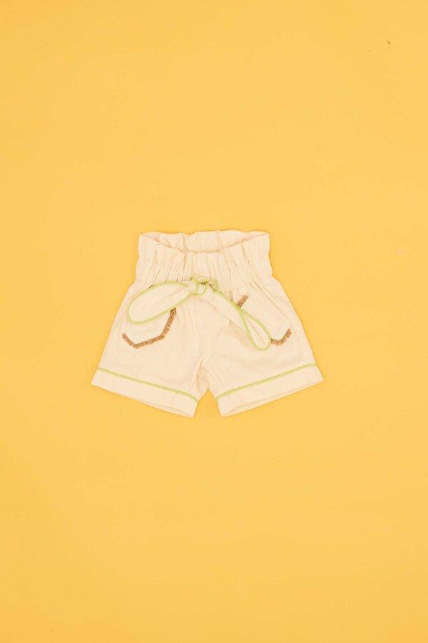 Resim Kız Bebek Bej Şort