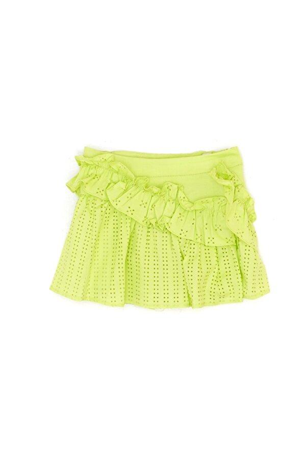 Resim Kız Bebek Neon Yeşil Etek