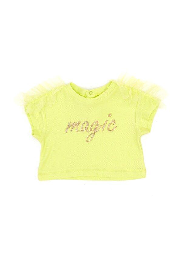 Resim Kız Bebek Neon Yeşil T-Shirt