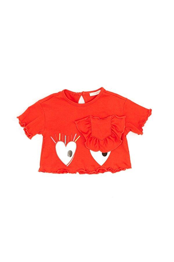 Resim Kız Bebek Kırmızı T-Shirt