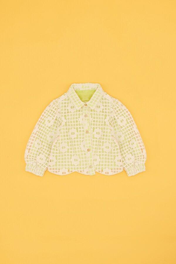 Resim Kız Bebek Neon Yeşil Ceket