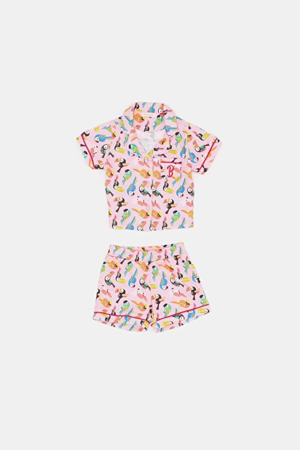Resim Kız Bebek Desenli Pijama Takımı