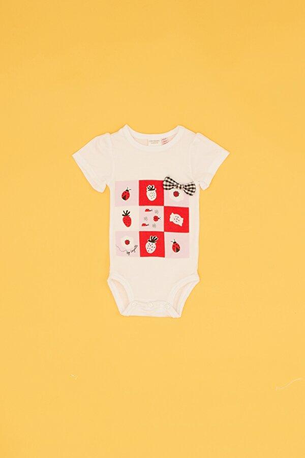 Resim Kız Bebek Pembe 3lü Body Eşofman Takımı