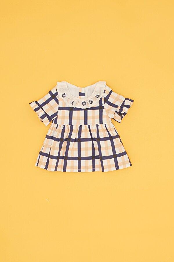 Resim Kız Bebek Ekose Elbise