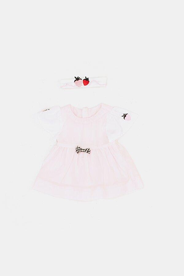 Resim Kız Bebek Pembe Elbise