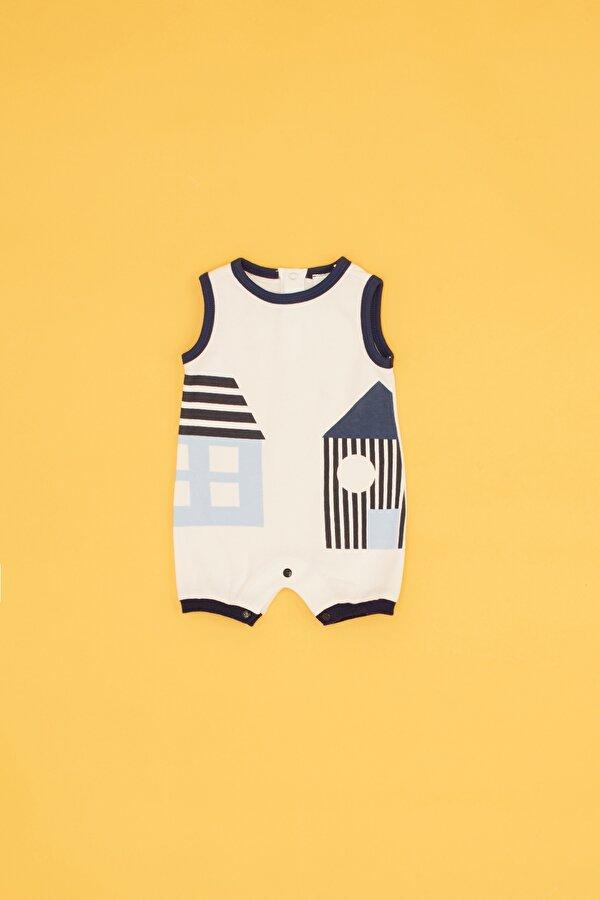 Resim Erkek Bebek Çizgili 2li Atlet Set