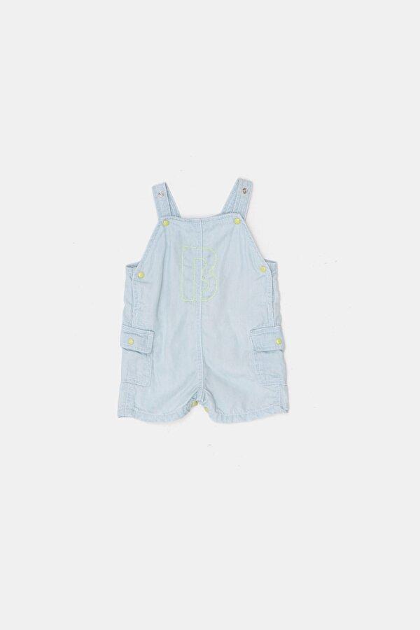 Resim Erkek Bebek Mavi 2li Salopet Takımı