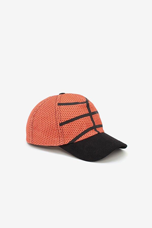 Resim Erkek Çocuk Oranj Şapka