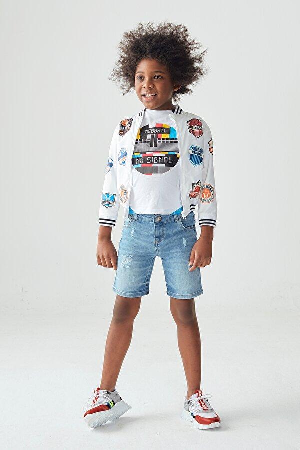 Resim Erkek Çocuk Jean Şort