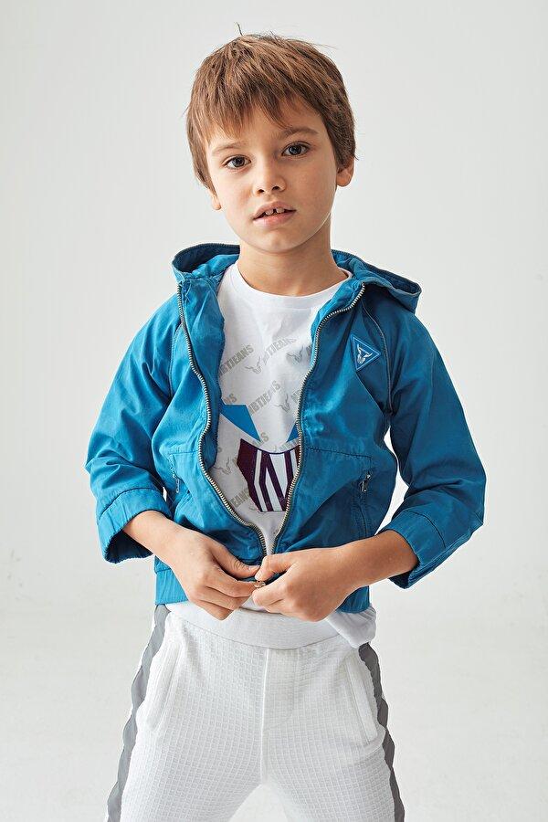 Resim Erkek Çocuk Mavi Eşofman Üstü