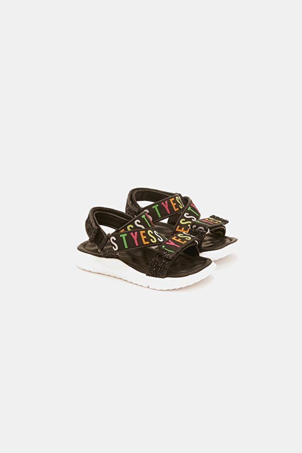 Resim Kız Çocuk Siyah Sandalet