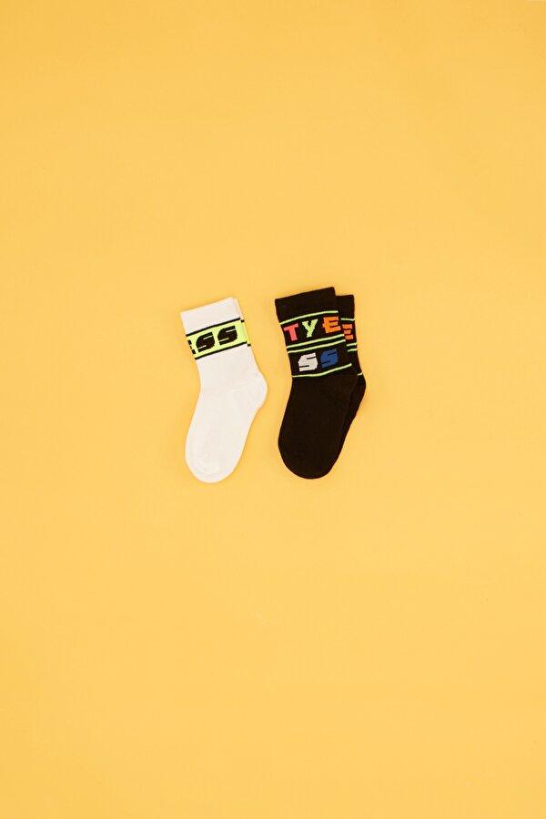 Resim Kız Çocuk Desenli 2li Çorap