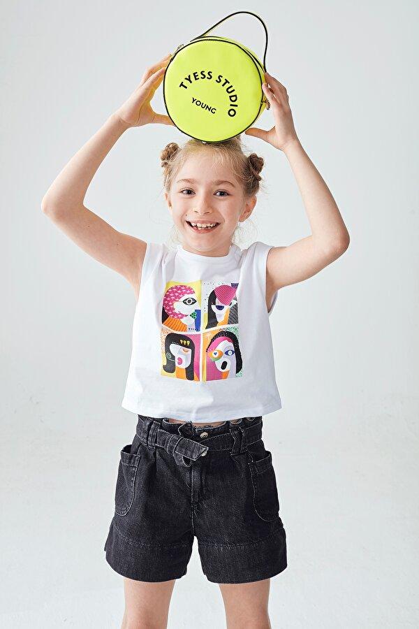 Resim Kız Çocuk Neon Sarı Çanta