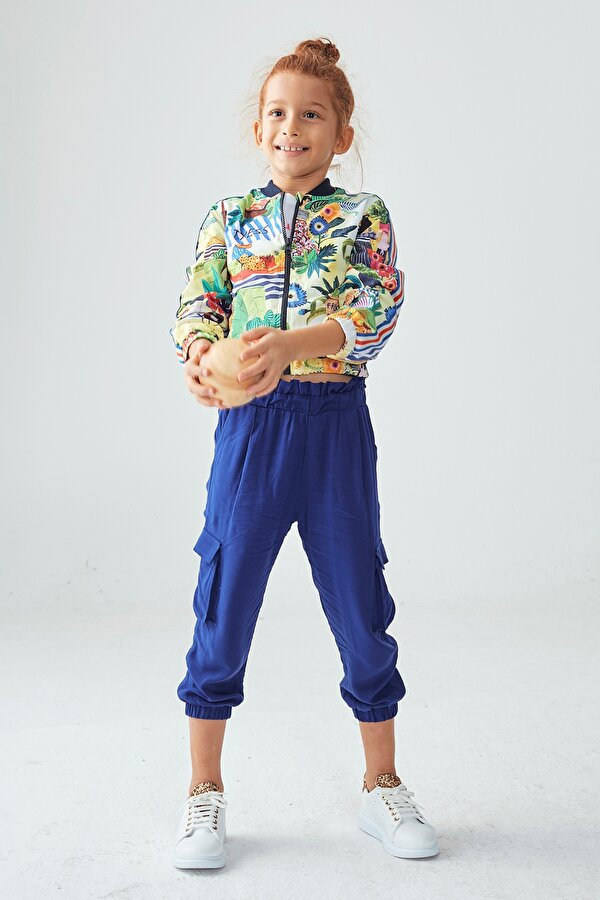 Resim Kız Çocuk Saks Pantolon