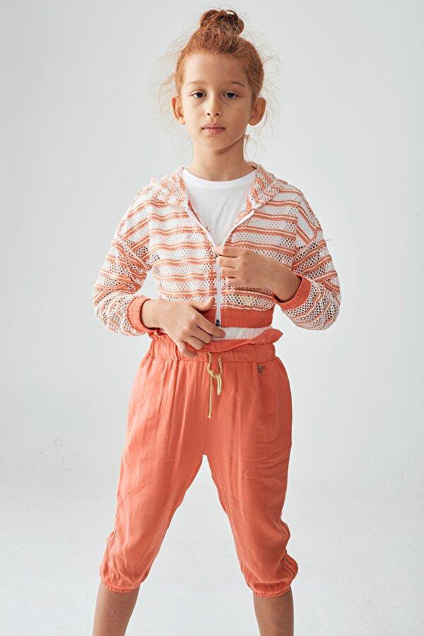 Resim Kız Çocuk Çizgili Eşofman Üstü