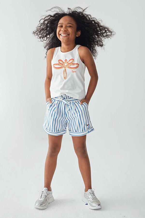 Resim Kız Çocuk Beyaz Atlet
