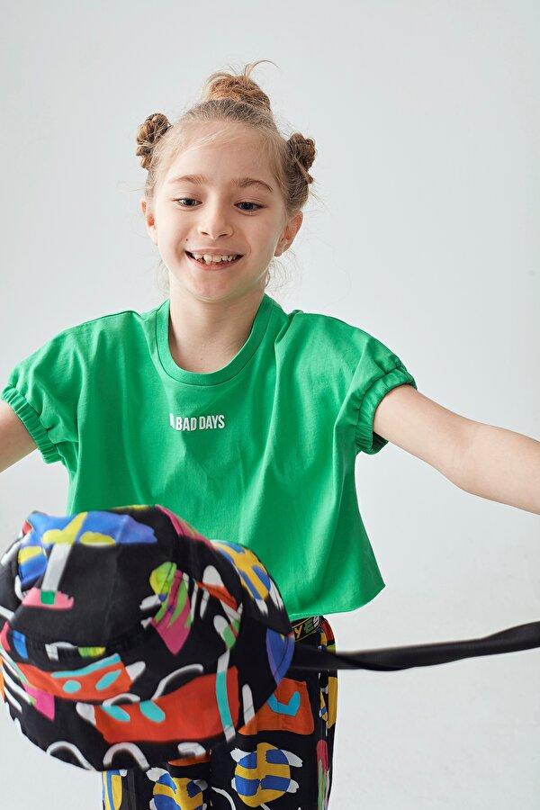 Resim Kız Çocuk Yeşil Crop Top
