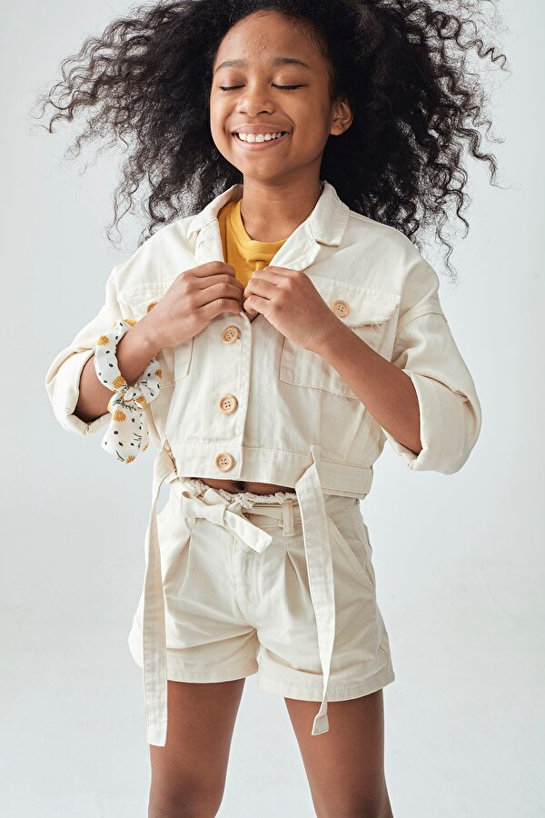 Resim Kız Çocuk Bej Ceket