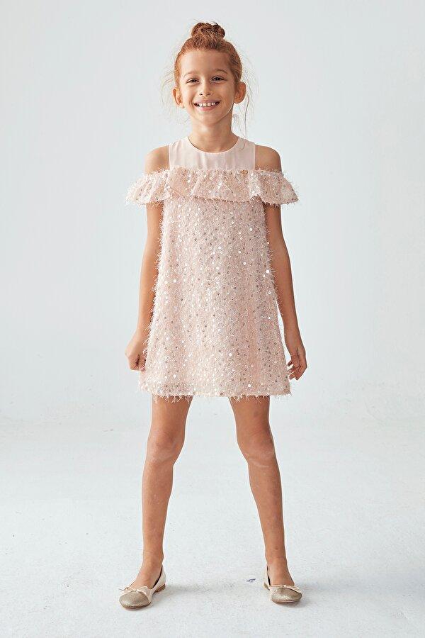 Resim Kız Çocuk Pudra Elbise