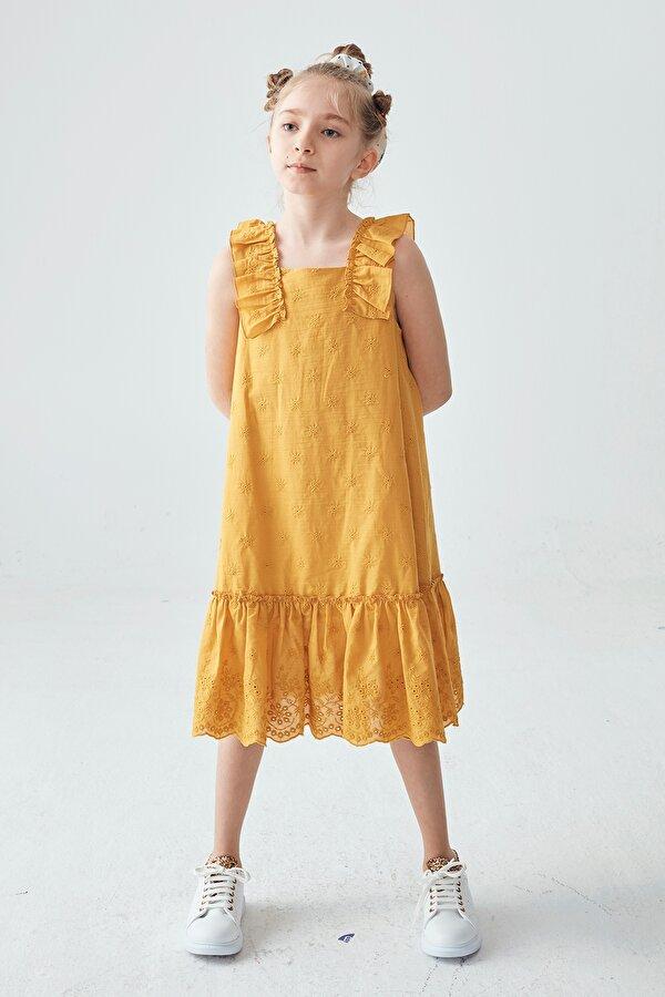 Resim Kız Çocuk Hardal Elbise