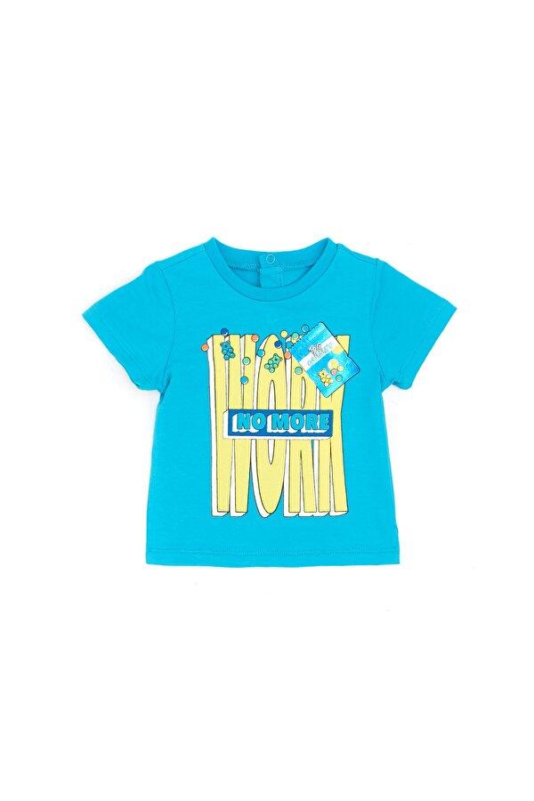 Resim Erkek Bebek Mavi T-Shirt