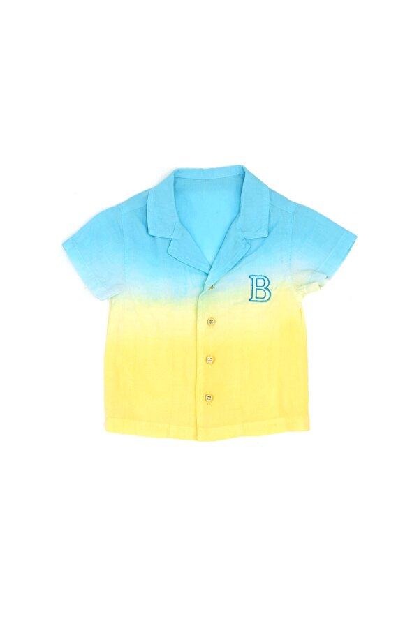 Resim Erkek Bebek Renkli Gömlek