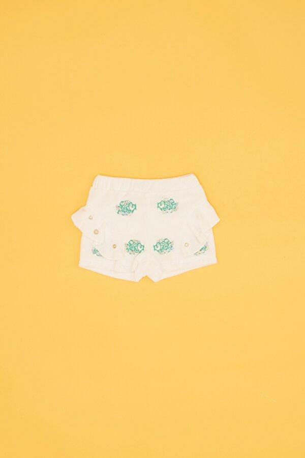 Resim Kız Bebek Beyaz Şort