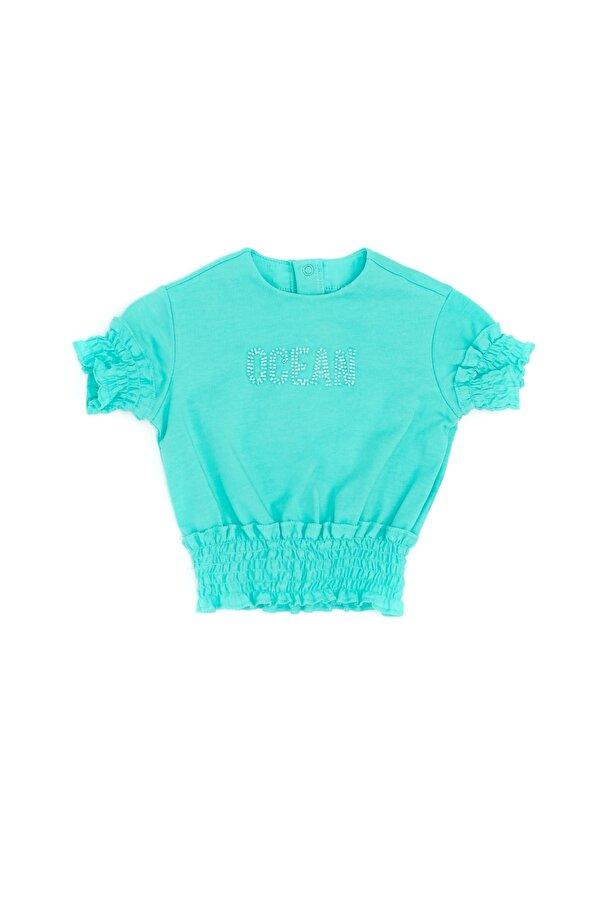 Resim Kız Bebek Yeşil T-Shirt