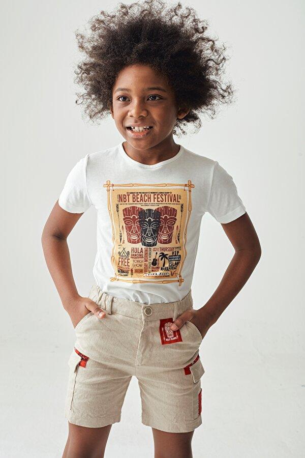 Resim Erkek Çocuk Ekru T-Shirt